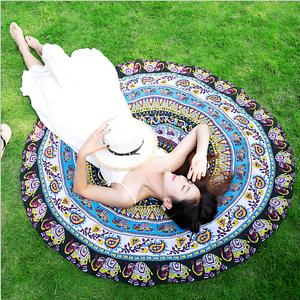 4Colors-Round-Mandala-Hippie-Boho-Tapestry-Beach-Picnic-Throw-Towel-Mat-Blanket