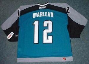 wholesale dealer ae573 55128 Details about PATRICK MARLEAU San Jose Sharks 2006 CCM Throwback Home NHL  Hockey Jersey