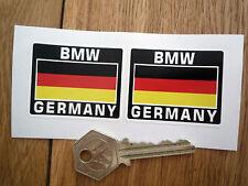 BMW GERMANY German Flag Style Stickers 50mm Pair Motorcycle Helmet Race Car Bike