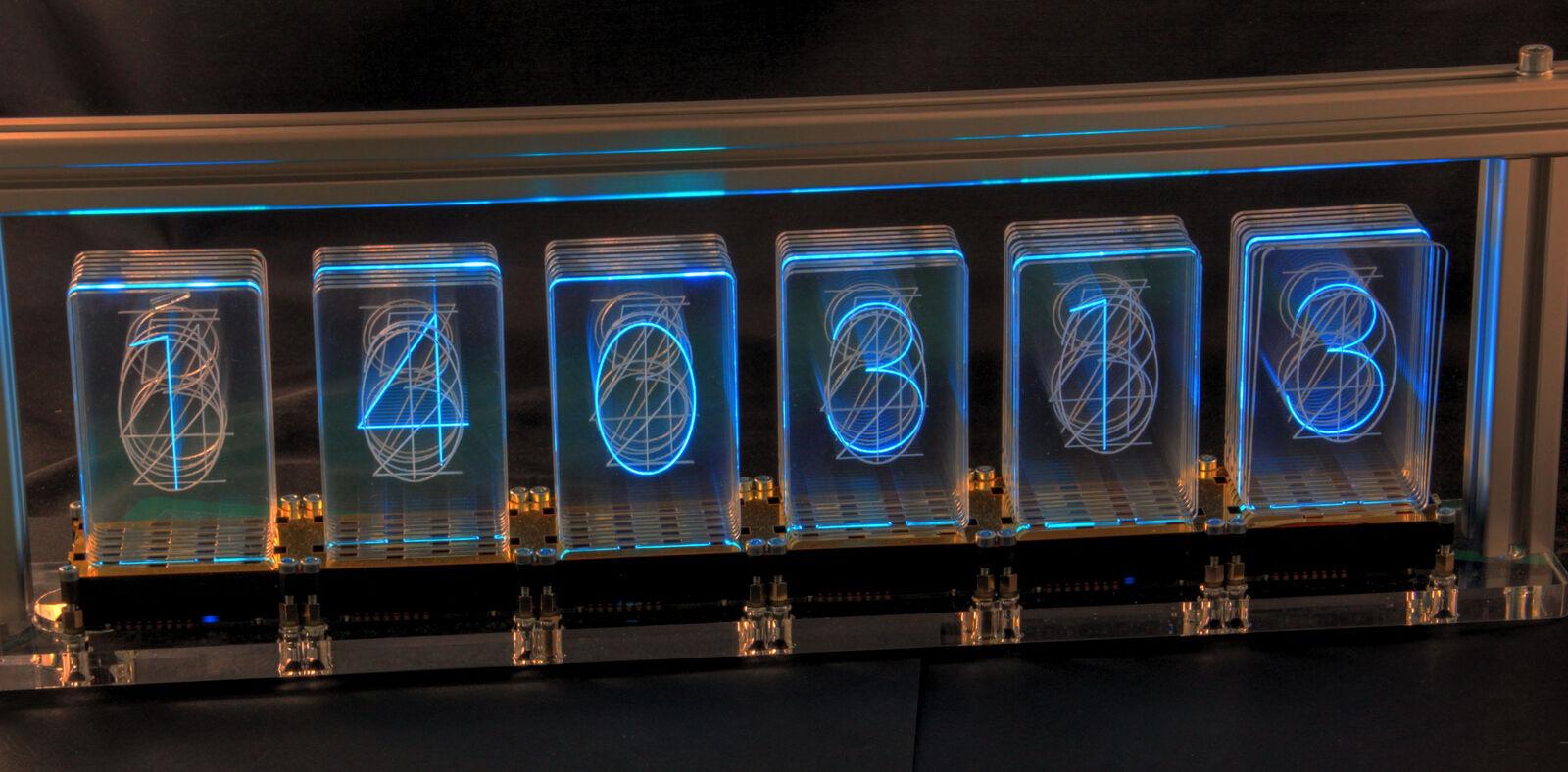 LED-Nixie-l 6-dígitos kit LED-reloj Nixie diseño con controlador controlador controlador RTC 9346db