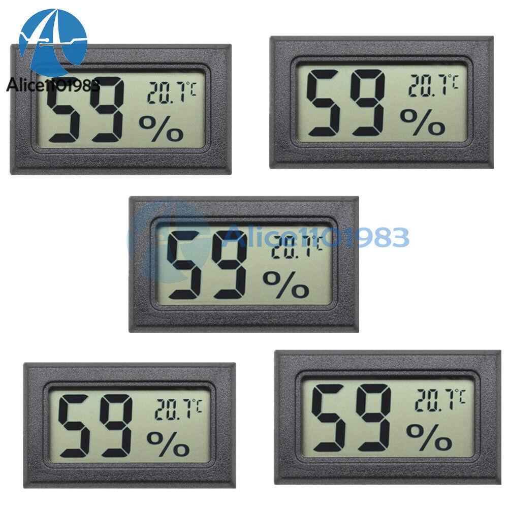 5PCS Digital LCD Thermometer Hygrometer Humidity Temperature Meter Indoor