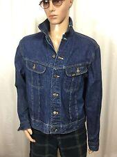 vintage LEE RIDERS dark denim trucker jacket Easy Rider . Made in USA . men's M