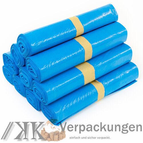 Abfallsäcke Blau 250 x PE-MÜLLBEUTEL TYP 60-120 Liter