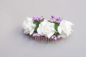 (080) Haargesteck Coiffe Communion Fleurs Fille Mariage Communion Bijoux-ck Afficher Le Titre D'origine