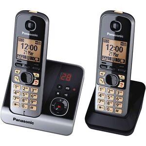 Panasonic-Telekom-KX-TG6722GB-DUO-schnurloses-Telefon-Anrufbeantworter-schwarz