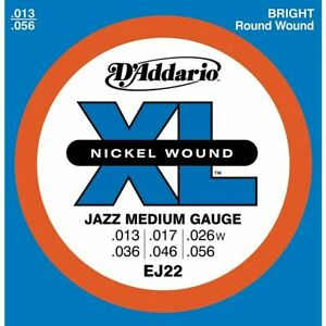 EJ22 D'Addario Nickel Jazz Medium Electric Guitar Strings