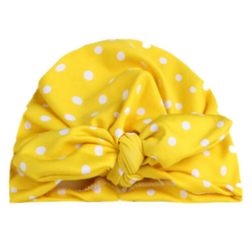 Baby Toddler Infant Kids Boy Girls Turban Bow-Knot Polka Dot Beanie Hat Warm Cap