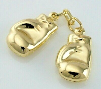 Geschickt New 9ct Yellow Gold Pair Of Boxing Gloves Charm / Pendant