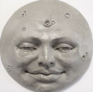 Handcrafted-Full-Moon-Unique-Wall-Art-an-Original-Sculpture-by-Claybraven