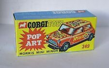 Repro Box Corgi Nr.349 Morris Mini Minor Pop Art