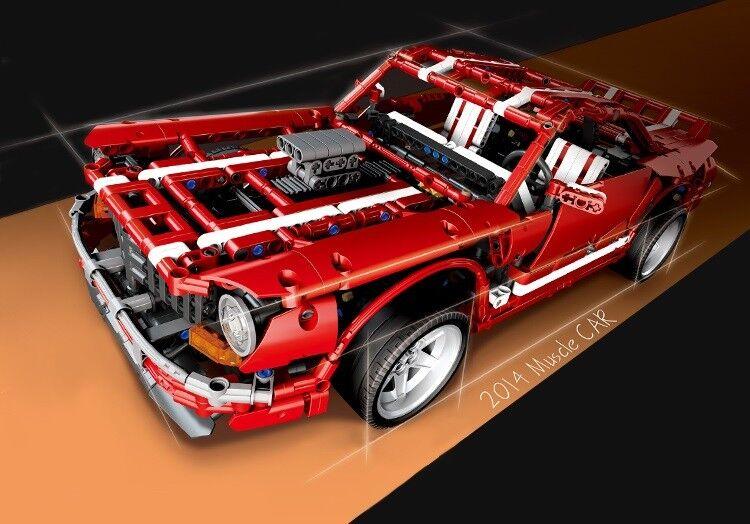 0701 Kreativt MOC Technical serier Muscle Car Building Blocks Bricks 2000pcs