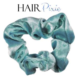 HAIRpixie-AQUA-VELVET-Hair-Scrunchie-Hair-Tie-MERMAID-Accessory-Elastic-Band