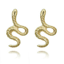 10k Yellow Gold Snake Earrings