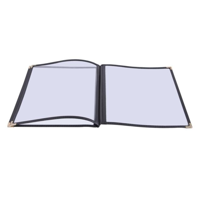 """30 Non-Toxic Cafe Menu Covers 3 Page 6 View 8.5x11"""" Black Book Style"""