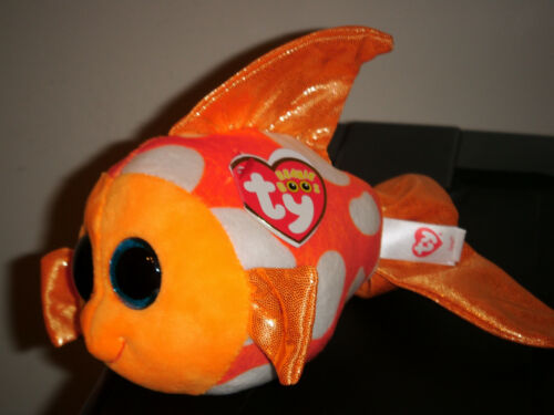 6 inch SAMI the Orange Fish TY Beanie Boos NEW MWMT Glitter Eyes