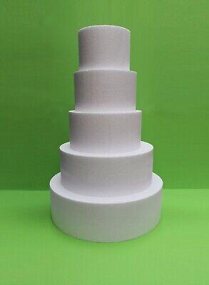Styropor Torte 4-stöckig//4 Set Ø 40 20 15 x 15 cm Dummy Hochzeit Event DIY 30