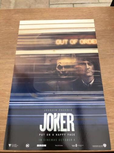 DC Comics Batman Joaquin Phoenix JOKER 2019 MOVIE-ODEON esclusivo A4 POSTER