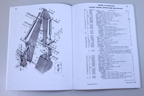 J I CASE 32 BACKHOE FOR 310 G 450 750 1000 D 1150 CRAWLERS PARTS CATALOG MANUAL