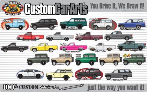 Custom Art T-Shirt for 1980 81 82 83-1989 Toyota Land Cruiser FJ60 60 series FJ