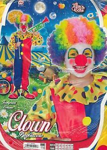 Vestito-Abito-Costume-Carnevale-PAGLIACCIO-CLOWN-4-5-ANNI-ALTEZZA116cm
