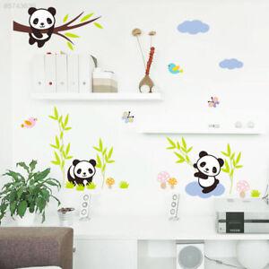 Details zu 03CC Wandtattoo Junge Mädchen Panda Tiere Sticker Aufkleber Baby  Kind Kinderzimm