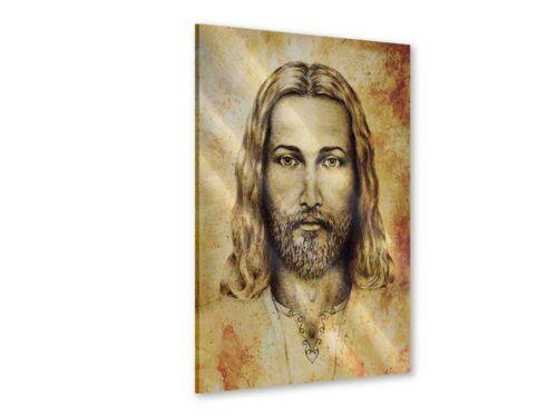 Wandbild Jesus Gemälde Leinwand Acrylglas Aluminium Metallic Hartschaum