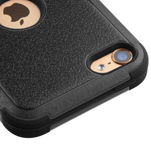 For iPod Touch 5th /& 6th Gen BLACK Hybrid Armor High Impact Rugged Case Cover