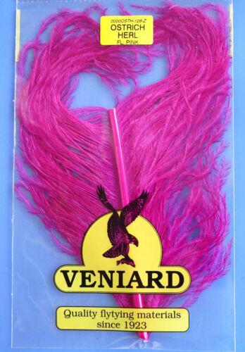Autruche OSTRICH tronçon de splendeur ressort fiberlänge 10-15 cm fluo pink