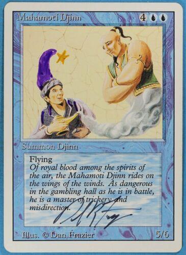 Mahamoti Djinn Revised PLD Rare Artist Signed Altered CARD ABUGames sa5023
