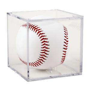 2 SQUARE BASEBALL CRYSTAL CLEAR STACKABLE DISPLAY CASE