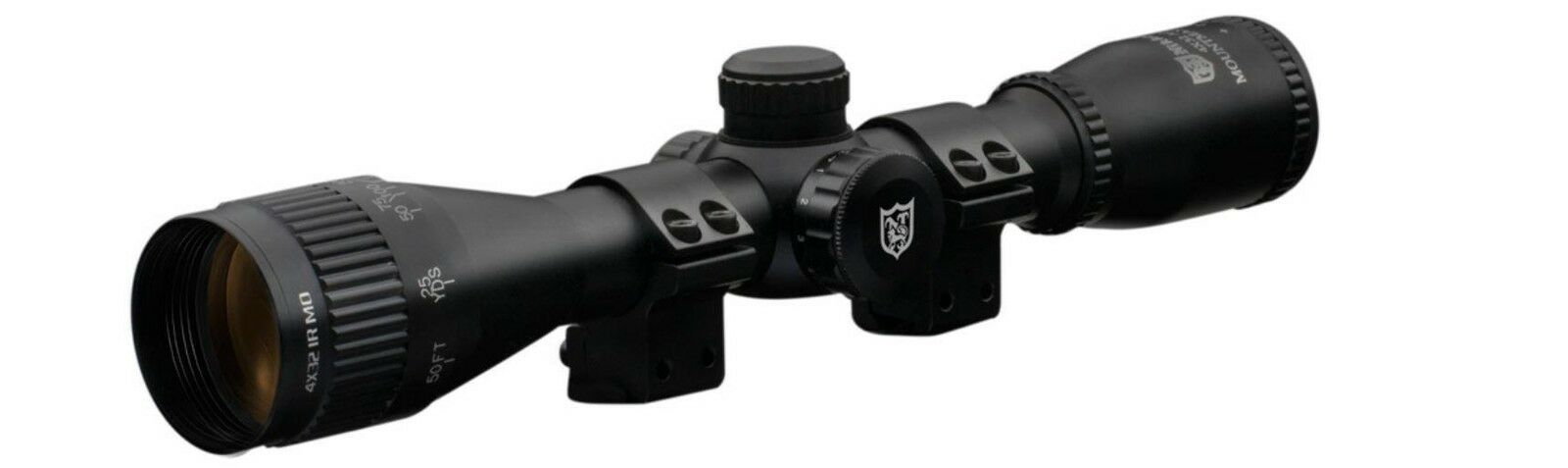 Nikko Stirling Stirling Nikko Mountmaster 3-9x40 AO IR Half Mil Dot Rifle Scope + Mount Rings c67fb0