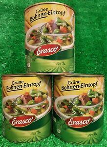 (4,13 €/L) 3x erasco fagiolini stufato (3x 800g lattina) fagiolini zuppa!!!