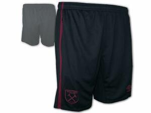 Umbro-West-Ham-United-Training-Short-schwarz-WUFC-Sporthose-Turnhose-Gr-S-3XL