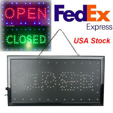 Bright Classic Open/Closed LED Light business Store Bar Coffee Cafe Sign neon