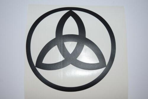 Wall Sticker custom Vinyl indoor decal window laptop removable Triquetra round