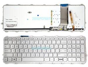 NUOVO-Argento-HP-ENVY-15-Q000-15-Q100-15-Q300-15-Q400-15-Q600-Tastiera-US-Retroilluminato