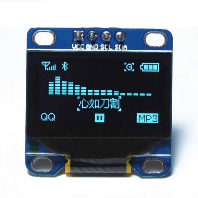 """Blue 0.96"""" IIC I2C 128X64 OLED LCD Display Module Arduino/STM32/AVR/51"""