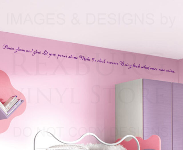 Wall Decal Sticker Quote Vinyl Art Lettering Letter Rapunzel Tangled Disney B63
