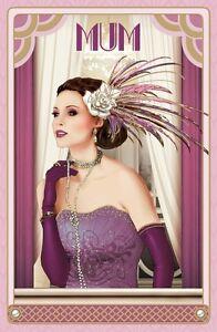 DEBBI-MOORE-Art-Deco-MAMAN-GRAND-luxueux-Carte-d-039-anniversaire-pour-mere