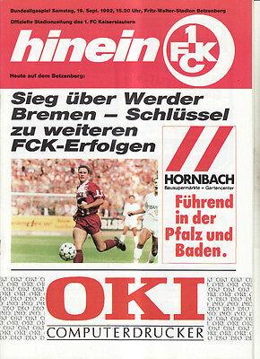 Borussia Mönchengladbach BL 88//89 1 FC Kaiserslautern