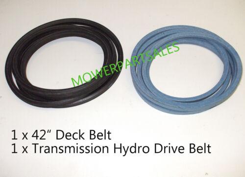 "HUSQVARNA Hydro Drive /& 42 /""Deck Belt Set CTH150 CTH160 CTH170 CTH172 CTH180 XP"