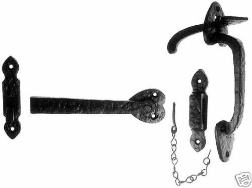 37350 Thumb Latch in Black Cast Iron Cottage Door Traditional Suffolk