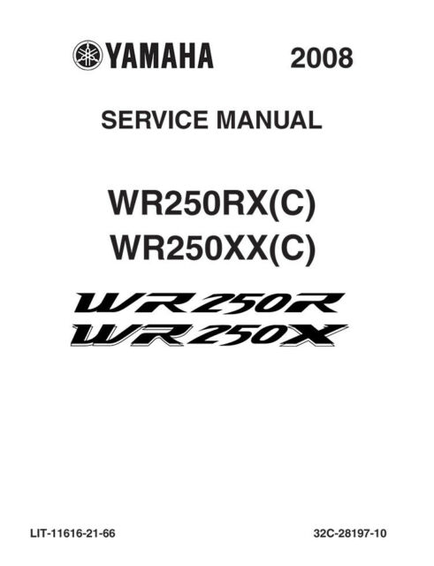 WR250RX Yamaha OEM Owners Manual WR250R Motors Vehicle Parts ...