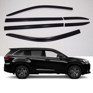 Smoke-Weathershield-Weather-Shield-Window-Visor-6p-for-2014-2020-Toyota-Kluger
