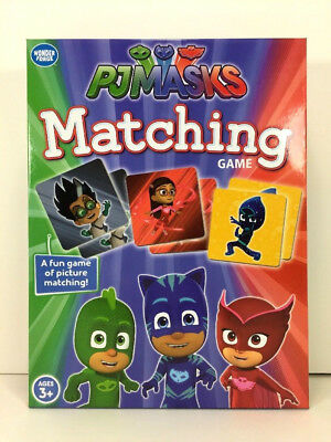 NEW Disney PJ Masks MATCHING GAME Memory Card Preschool CATBOY OWLETTE GEKKO