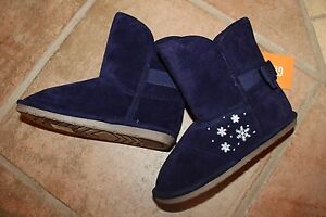 NWT-Gymboree-Fair-Isle-Flurry-Size-9-Navy-Fabric-Faux-Suded-Snowflake-Boots