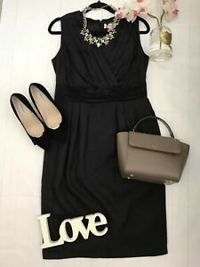 Pepperberry-Size-12-RC-really-curvy-bnwt-silk-blend-black-pencil-short-dress