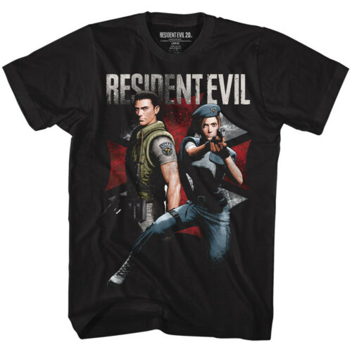 Resident Evil Chris And Jill Movie Video Game Adult Mens T Tee Shirt RES524