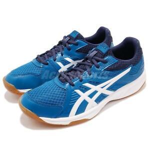 Asics Upcourt 3 Blue Navy White Gum Men Volleyball Badminton Shoes ... f61d06dcdaf15