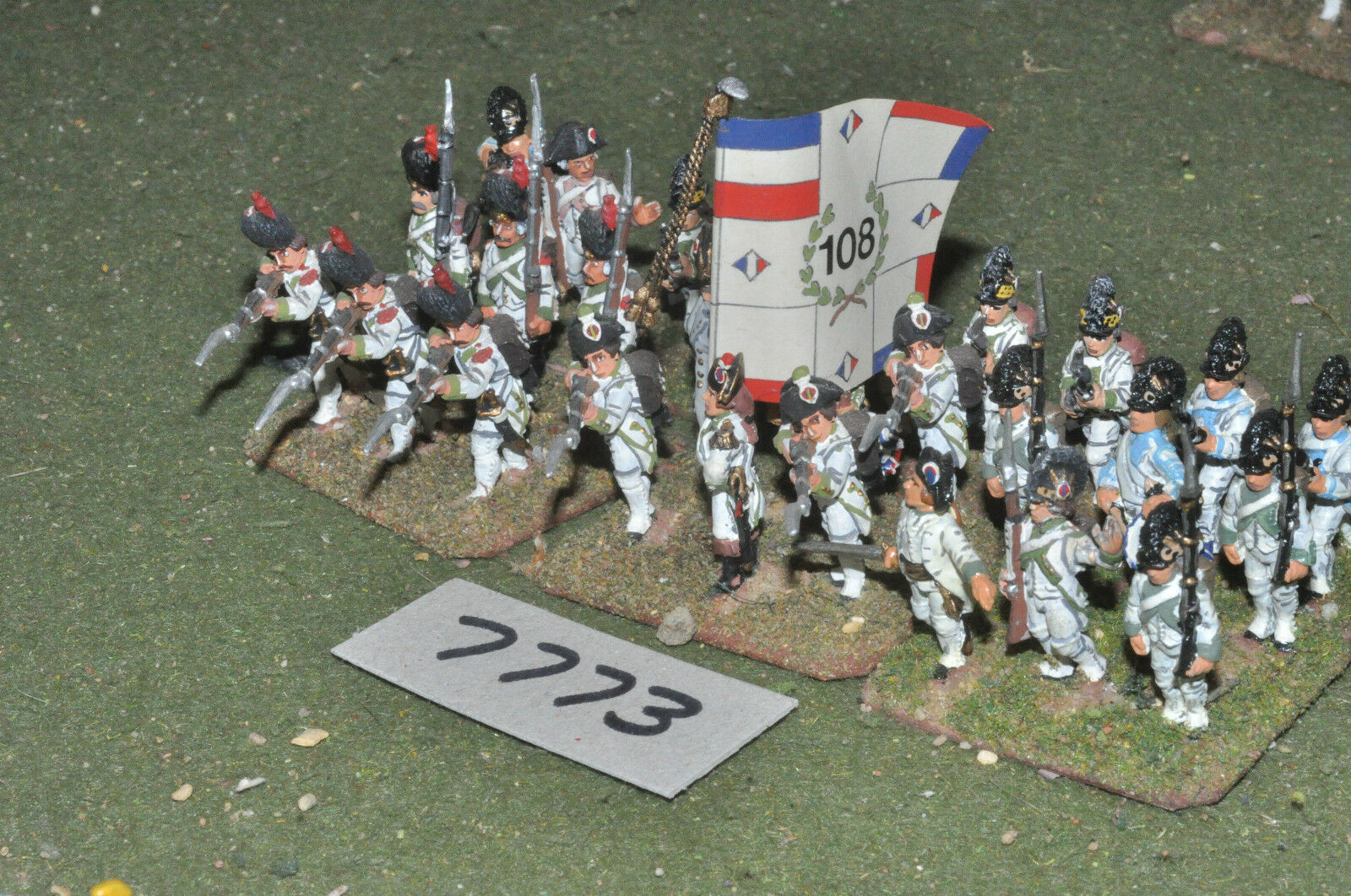 25mm napoleonic   french - revolutionary war infantry 30 figs metal - inf (7773)
